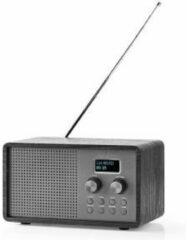 Nedis DAB+ en FM Radio   Klok en Wekkerfunctie  4.5 W  USB Gevoed (Excl. Adapter)   Zwart