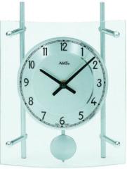 Zilveren AMS 137 Pendeluhr - Serie: AMS Tischuhren
