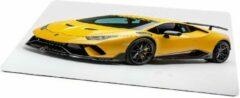 Gele Kimano Gaming muismat - Lamborghini Huracane - 27 x 36 cm