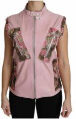 Roze Zippered Lamb Sleeveless Leather Vest