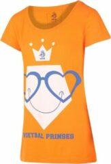 Oranje KNVB - Nederlands Elftal - Leeuwinnen T-shirt Dames Voetbal Prinses Blanco-XL