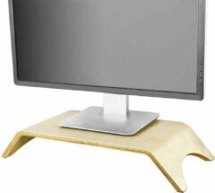 Simpletrade Monitor standaard - Monitor verhoger - Ergonomisch - Berkenhout - 36x22x9 cm