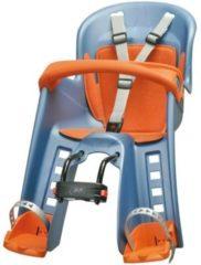 Polisport Kindersitz Bilby Junior für Befestigung am vorderen Fahrradrahmen blau/orange