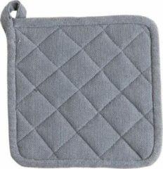 Grijze Linen & More- 2 stuks Pannenlappen indi grey