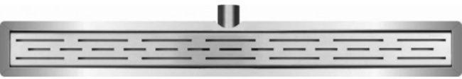 Afbeelding van Roestvrijstalen Frank&Co Wiesbaden RVS douchegoot - Met flens en RVS sifon + filter - 80 x 7 cm