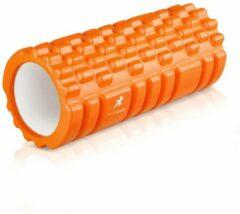 Siston® Foam roller - Grid Foam Roller Massage - Fitness Roller - Triggerpoint massage - Oranje – 33cm - Siston Sport