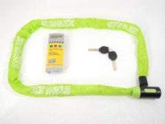 Deltafix Stahlex Ø5mm / 120cm kettingslot fietsslot | 635g ideaal gewicht voor een fietser | zeer goede kwaliteit | groen