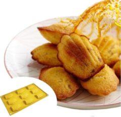 ZijTak - Madeleine bakvorm - silicone - antikleef - 9 madeleinen -bakvorm - duurzaam - Fleurig geel
