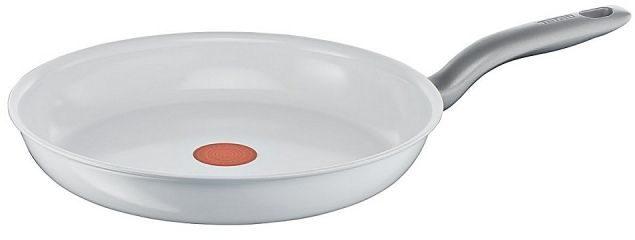 Afbeelding van Witte Tefal Kookgerei Tefal Ceramic Control White - Keramische koekenpan Ø 28 cm
