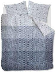 Blauwe Ariadne At Home Ambiante Structure Stripe - Flanel - Dekbedovertrek - Eenpersoons - 140x200/220 cm + 1 kussensloop 60x70 cm - Grijs