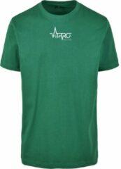 Fitprowear casual t shirt heren groen shirt sportshirt casual shirt t shirt ronde hals t shirt slim fit slim fit shirt t shirt korte mouwen