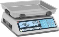 TEM Prijsrekenweegschaal - in de handel goedgekeurd - 30 kg / 10 g - dubbel LCD-scherm