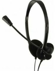 LogiLink HS0002 PC-headset 3.5 mm jackplug Kabelgebonden, Stereo On Ear Zwart