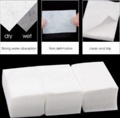 Witte Hiden 100x Nagellak Remover Doekjes – Nail Art – Manicure – Katoen