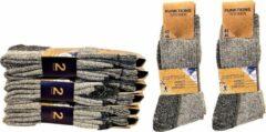 Grijze Naft Werk of Wandel Sokken 6 paar Merino Look Maat 43/46