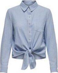 Witte ONLY ONLLECEY LS STRIPE KNOT DNM SHIRT NOOS Dames T-shirt - Maat XL