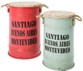 MiaVILLA Tonnen-Set, 2-tlg. Santiago, Metall