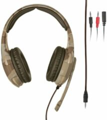 Trust GXT 310 Radius - On-ear Gaming Headset (PC + PS4 + PS5 + Xbox One) / Desert Camouflage