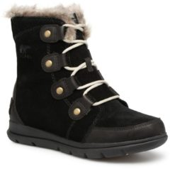Zwarte Sorel Women's Explorer Joan Hiker Style Boots - Black Dark Stone - UK 5 - Black