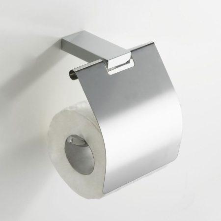 Afbeelding van Zilveren Aqua Splash Wiesbaden Eris toiletrolhouder met klep chroom