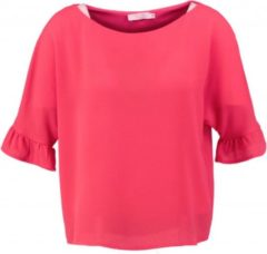 Signe nature kort polyester structure shirt pinkish red - Maat 38
