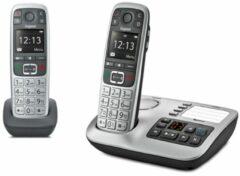Gigaset E560A - Duo Senioren DECT telefoon - met antwoordapparaat - Zilver/Zwart