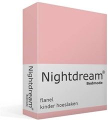 Moment By Moment Snoozing flanel kinder hoeslaken Roze Junior (70x140/150 cm) (350 roze)