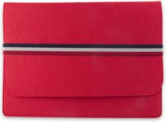 LAPPR® - Laptophoes - Laptopsleeve vilt - Laptoptas - Duurzaam - Bestseller - 11,6/12 inch - Rood + GRATIS WEBCAMCOVER