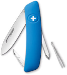 SWIZA D02 KNI.0020.1030 Zwitsers zakmes softtouch Aantal functies: 6 Blauw