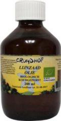 Cruydhof Lijnzaadolie koudgeperst bio 200 Milliliter