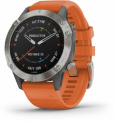 Garmin fenix 6 Sapphire smartwatch Oranje, Titanium 3,3 cm (1.3 ) GPS