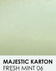 Groene Karton met glinster notrakkarton Majestic fresh mint 06 30,5x30,5 cm 250 gr.