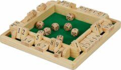 Relaxdays Shut the box - 1-10 - bordspel reisspel - rekenspel - 4 spelers - hout