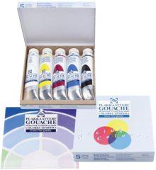 Royal Talens Gouache Extra Fine Quality set 5 kleuren 20 ml tubes plakkaatverf dekkende waterverf tempera mengset