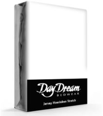 Day Dream Jersey Hoeslaken Wit-190 x 220 cm