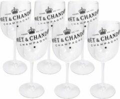 Moet & Chandon Moët & Chandon Transparant Acryl Champagne Glas - 6 stuks