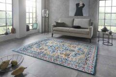 Nouristan Vintage vloerkleed Agha - lichtblauw/geel 200x290 cm