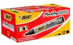 BIC Marking 2000 Permanente marker Ronde punt 1 7 mm Zwart 12 Stuks