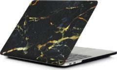 AA Commerce Hardcover Case Cover Voor Apple Macbook Air 13.3 Inch 2018/2019/2020 (A1932/A2179/A2337) Hard Shell Hoes - Notebook Sleeve Skin Protector Hardshell - Hardcase Beschermhoes - Marmer - Zwart/Goud