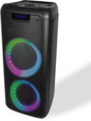 Zwarte Denver BPS-350 / Bluetooth party speaker met lichteffecten