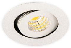 Groenovatie Inbouwspot LED 3W, Rond, Kantelbaar, Aluminium, Dimbaar, Zilver