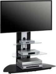 Maja TV-Rack Desna, ca. 110x128x53 cm, alu/schwarzglas