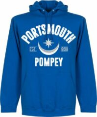 Blauwe Retake Portsmouth Established Hoodie - Royal - M