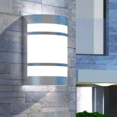 Zilveren VidaXL Wandlamp voor buiten licht roestvrij staal