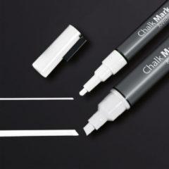 Krijtmarker Sigel 1-2mm & 1-5mm afwasbaar 2 stuks wit