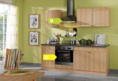 HELD Möbel Küchenzeile Rom 210 cm Buche Nachbildung - inkl. E-Geräte