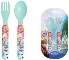 Lichtblauwe Bestekset lepel & vork Disney Frozen II