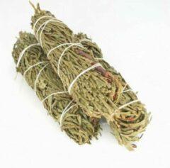 Groene FineGoods Ceder - cedar - smudge stick - 1 stuk - 10cm - meditatie - yoga - huis reiniging - zuivering - branden - geurverspreiding