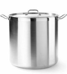 Roestvrijstalen Hendi Kookpan hoog met deksel 6 liter