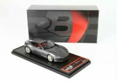 Grijze Ferrari Roma 2020 Grigio Silverstone Grey Metallic 1-43 BBR Models Limited 172 Pieces